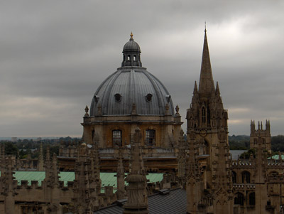 Londres Oxford Sheldonian Theater coupole vue