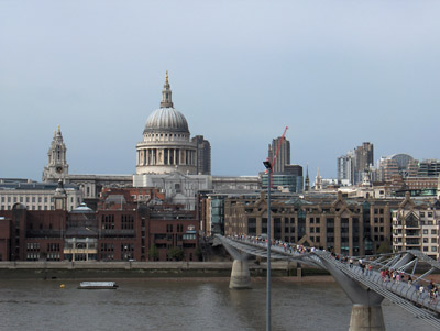 Londres Tate Modern Museum Vue sur St Paul's Cathedral