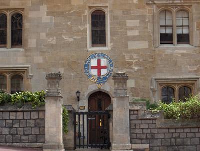 Londres Windsor Maison blason chevaliers de la jarretière