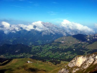 photo montagne alpes randonnée Mont Charvin Marlens
