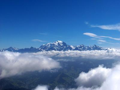 photo montagne alpes randonnée Mont Charvin sommet Mont Blanc