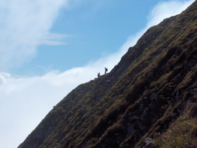 photo montagne alpes randonnée Mont Charvin sentier raide aérien