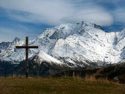 photo montagne alpes randonnée Mont Géroux Mont Joux Mont Blanc croix
