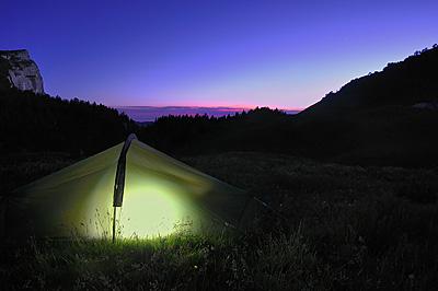 photo montagne alpes randonnée chartreuse coucher de soleil alpette bivouac