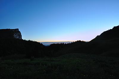 photo montagne alpes randonnée chartreuse coucher de soleil alpette