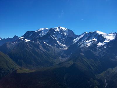 photo montagne alpes randonnée Mont Joly sommet Mont Blanc