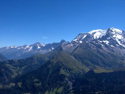 photo montagne alpes randonnée Mont Joly Mont Blanc aiguilles