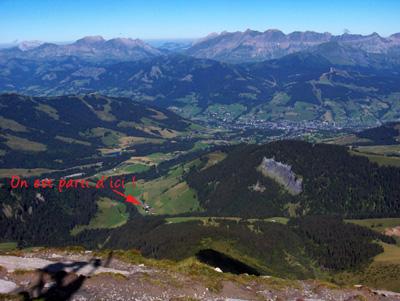 photo montagne alpes randonnée Mont Joly départ