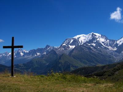 photo montagne alpes randonnée Mont Joly Mont Joux Mont Blanc Croix