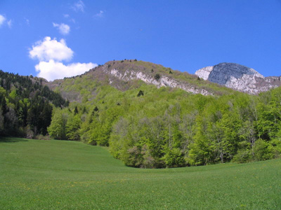 photo montagne alpes randonnée Mont Saint Martin prairie côte charvet