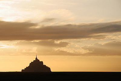 photo france bretagne normandie mont saint michel baie coucher soleil
