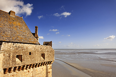 photo france bretagne normandie mont saint michel baie remparts