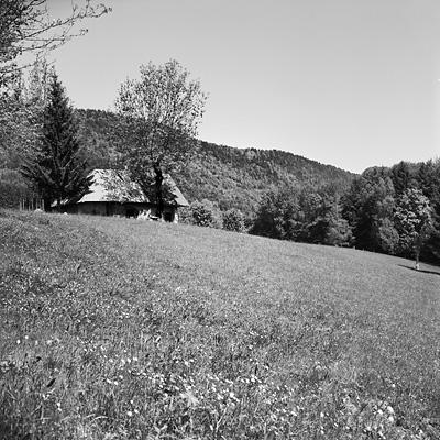 photo montagne alpes bauges randonnée montagne bange chalet mariet dessus rolleiflex