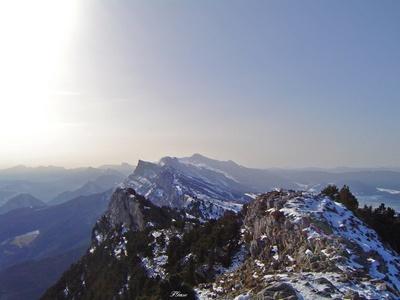 photo montagne alpes randonnée Moucherotte arêtes Vercors