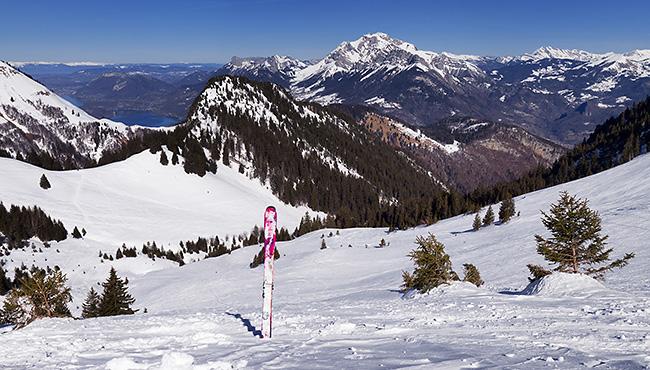 photo montagne alpes ski randonnée rando savoie bauges faverges seythenex petite chaurionde