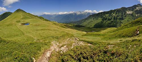 photo montagne alpes belledonne randonnée pointe de rognier col arbaretan panorama