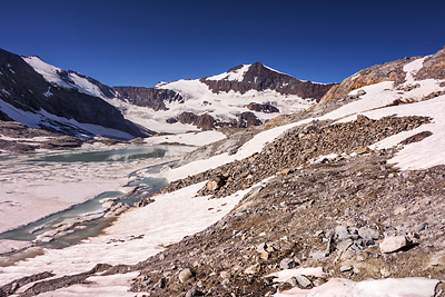 photo montagne alpes haute maurienne alpes grees lac grand mean albaron