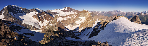 photo montagne alpes haute maurienne alpes grees pointe piatou panorama
