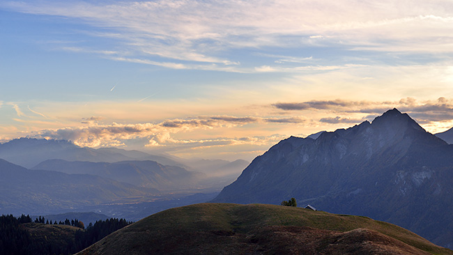 photo montagne alpes randonnée rando savoie bornes aravis ugine col arpettaz praz vechin