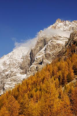 photo montagne alpes ecrins randonnée raquettes automne ailefroide pre madame carle meleze