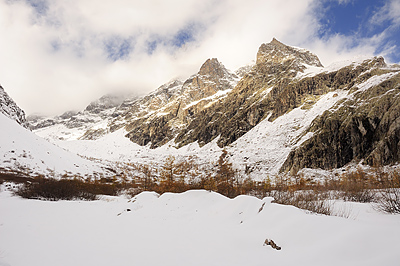 photo montagne alpes ecrins randonnée raquettes automne ailefroide pre madame carle