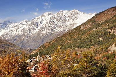 photo montagne alpes ecrins randonnée raquettes automne ailefroide pre madame carle vallouise