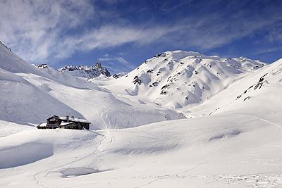photo montagne alpes cerces thabor randonnée raquettes hiver neige nevache claree vallee refuge drayeres