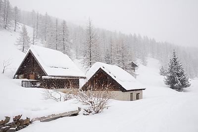 photo montagne alpes cerces thabor randonnée raquettes hiver neige nevache claree vallee fontcouverte
