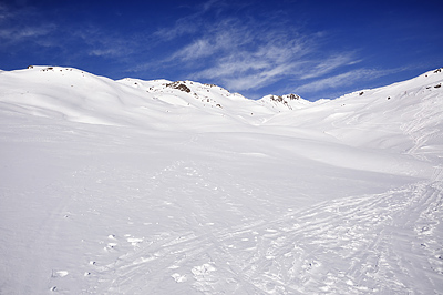 photo montagne alpes cerces thabor randonnée raquettes hiver neige nevache claree vallee lac long col muandes