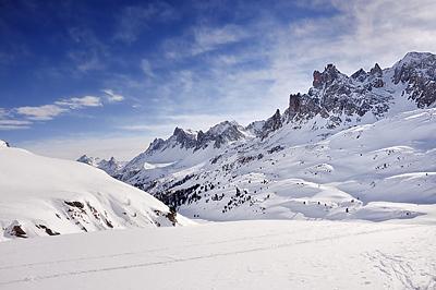 photo montagne alpes cerces thabor randonnée raquettes hiver neige nevache claree vallee col rochilles