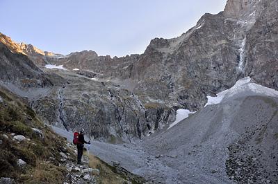 photo montagne alpes ecrins valjouffrey refuge font turbat