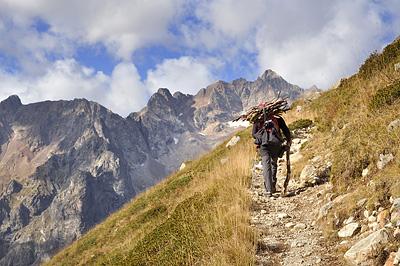 photo montagne alpes ecrins valjouffrey refuge font turbat lac pissoux