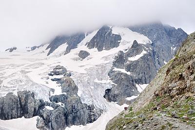 photo montagne alpes randonnée ecrins berarde refuge pilatte glacier