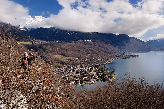 photo montagne alpes randonnée rando haute savoie annecy lac talloires roc chere