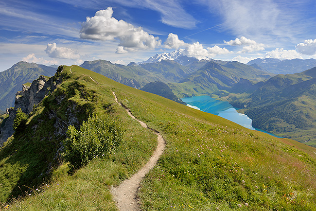 photo montagne alpes randonnee rando beaufortain arêches cormet roselend col du pré roche parstire