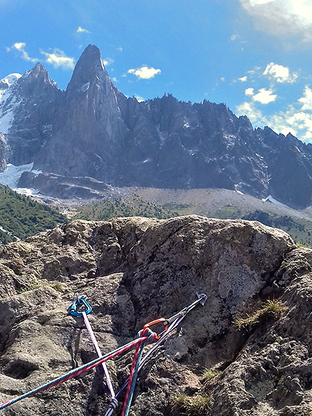 photo montagne alpes escalade grande voie mont blanc mer de glace rocher mottets voie caline