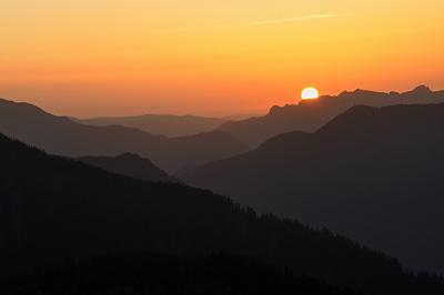 photo montagne alpes randonnée roselend coucher soleil