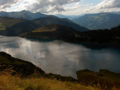 photo montagne alpes randonnée roselend lac
