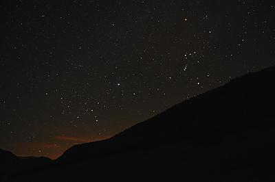 photo montagne alpes saint agnan en vercors paysage nocturne nuit filé étoiles