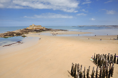 photo france bretagne normandie saint malo plage fort national