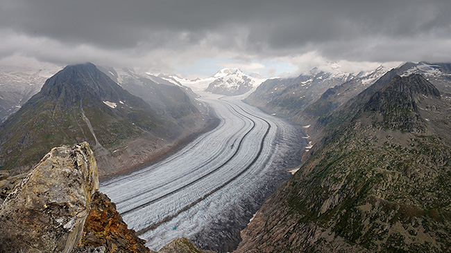 photo montagne alpes randonnée suisse valais bettmerhorn eggishorn glacier aletsch sentier UNESCO