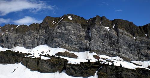 photo montagne alpes randonnée Refuge Tête de Bostan falaises