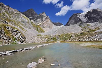 photo montagne alpes randonnée tour des glaciers vanoise TGV lac des vaches