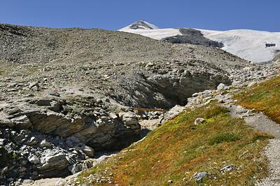 photo montagne alpes randonnée tour des glaciers vanoise TGV moraine