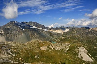 photo montagne alpes randonnée tour des glaciers vanoise TGV pointe observatoire peclet polset lac blanc