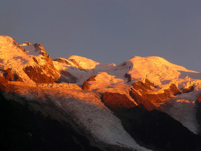 Lumi res du monde blog tour du mont blanc kora des jo etape 1 les houches chamonix - Photo coucher de soleil montagne ...