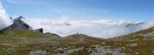 photo montagne alpes randonnée tour du mont blanc tmb kora panorama Col de la Croix du Bonhomme