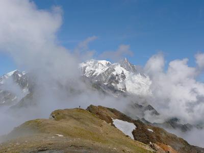 photo montagne alpes randonnée tour du mont blanc tmb kora Tête Nord des Fours
