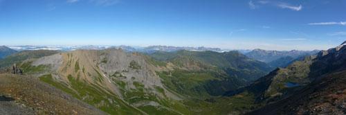 photo montagne alpes randonnée tour du mont blanc tmb kora Tête Nord des Fours panorama