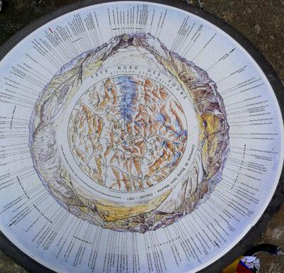 photo montagne alpes randonnée tour du mont blanc tmb kora Tête Nord des Fours table orientation